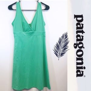 Patagonia green empire a-line jersey tank dress S